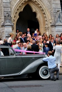 August wedding at Dublin's St Stephen's Green Unitarian Church...