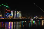 The Dublin Convetion Center and the Samuel Beckett Bridge in the evening...