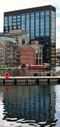 Verticals and horizontals... Google Docks building and others on Grand Canal Dock