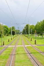 Power lines... tram lines... lines everywhere...