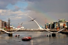 Dublin's Liffey in the summer... busy or what?