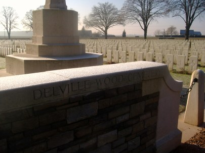 Arrival at the cemetery gate... the rows and rows of headstones speak for themselves!