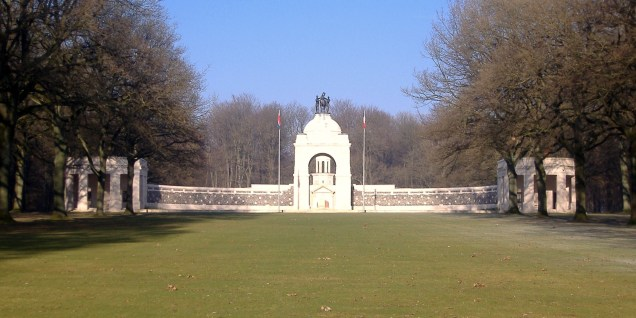 The South African War Memorial in the pale winter sunlight...