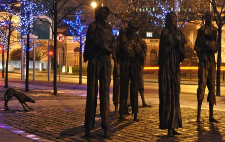 The Famine Statues on Custom House Quay, Dublin Ireland