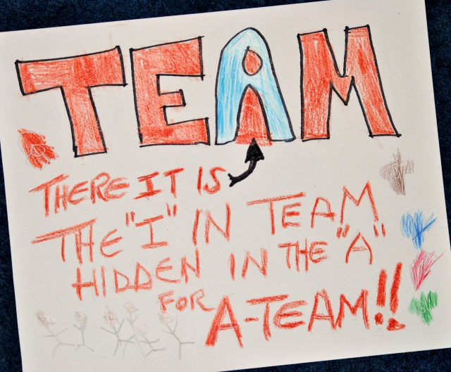 "The ""I"" in TEAM!!"