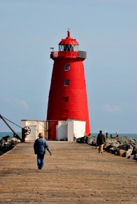 The red beacon at the end of the Poolbeg Pier... on a sunny April afternoon...