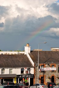 Rainbow over Kilcock... the pub serves great food...