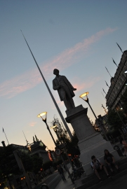 Dublin's O'Connell Street on a late summers evening...
