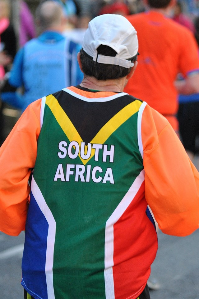 The SA Flag at the 2013 Dublin Marathon...