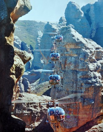 Four stack formation in the Southern Drakensberg near Elliot in the North Eastern Cape, Aug 1988