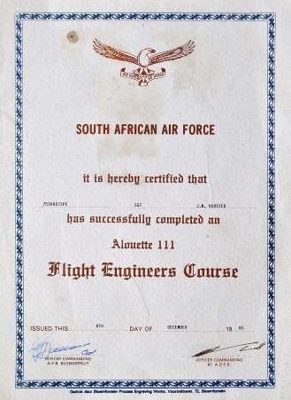 My beat up and battered FE Wings Parade Certificate... 30 years on and many moves later!
