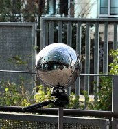 Self portrait in a silver ball...