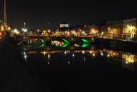 Capel Street Bridge on Dublin's Liffey, Jan 2014 Ireland