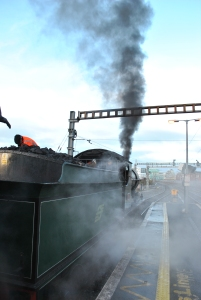 Old smoke and steam spewing
