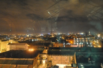 The Dublin skyline at night, as seen from the Gravity Bar at the Guinness Storehouse, Ireland
