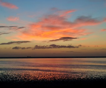 Beauty before sunrise... Dublin Bay in February...