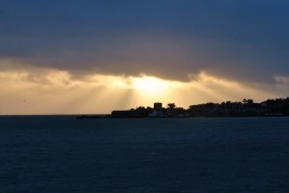 Sunrise over the James Joyce Tower at Sandycove, Dublin, Ireland