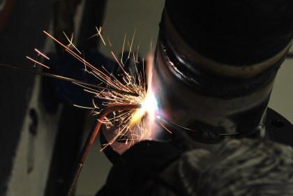 Looking over the welder's shoulder...