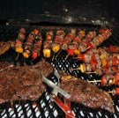 Steak and sosaties on the coals!