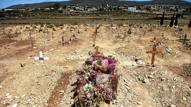 The Grave of Anene Booysen... another victem of the calous sickness that is devistating South Africa.