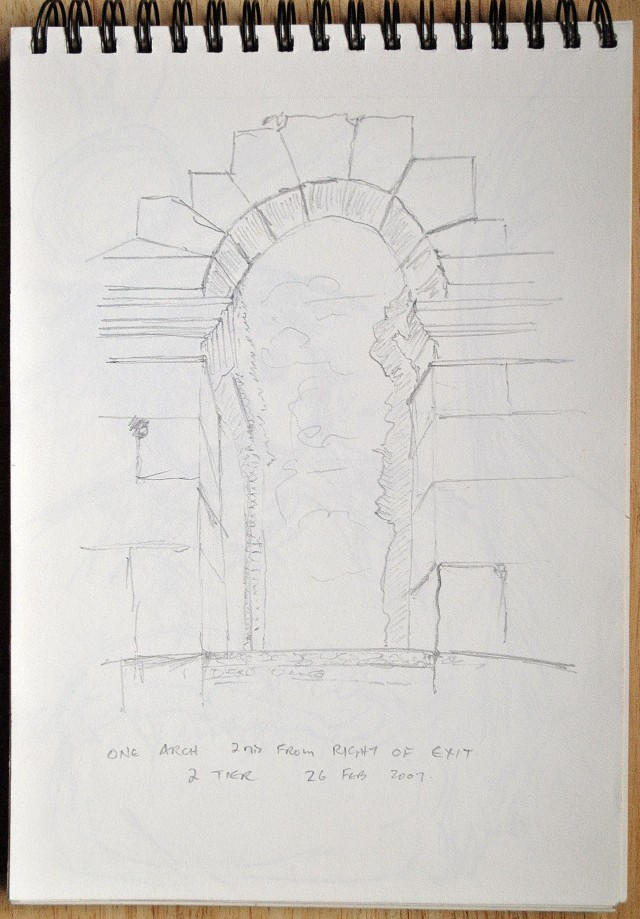 My version of one of the arches... the Colosseum, Rome