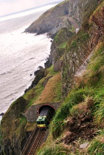 There goes the train... as seen from the cliff walk between Greystones and Bray, Co Wicklow, Ireland