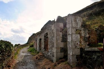 The ruins of Lord Meath's Lodge, above Bray on the cliff walk... Co Wicklow, Ireland