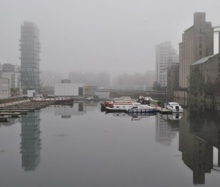 Misty morning at Grand Canal Dock
