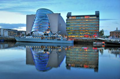Dublin's Convention Center and PCW Building, along the Liffey - HDR