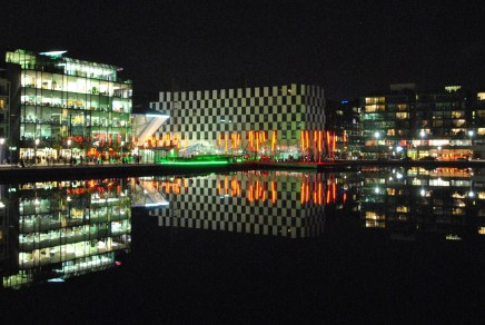 November Grand Canal Dock glows...