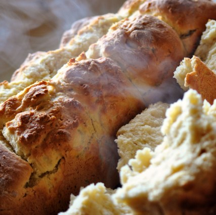 Hot buttermilk rusks just out of the oven...