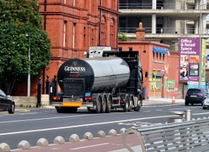 Guinness truck and wall art, Dublin, Ireland