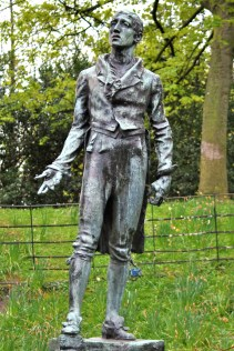 The statue of Robert Emmit in Dublin' St Stephen's Green