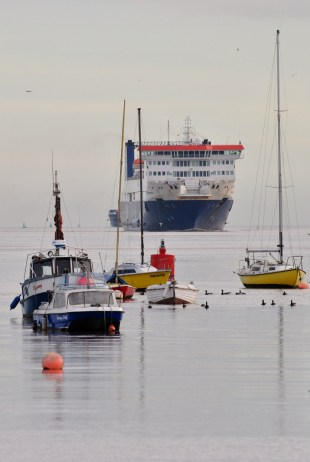 The ferry getting in... Dublin Port