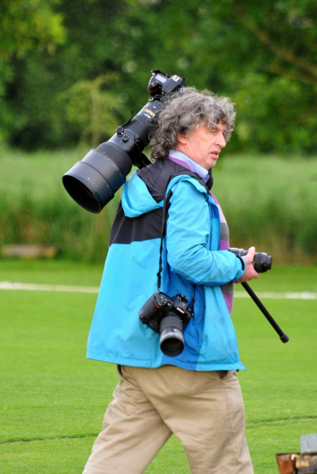 Adrian Melia with his tool of the trade... he's a knack of capturing the unusual rather splendidly!