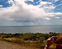 The GLW looking out to rain cloud in the distance... liquid Irish summer sunshine!!