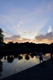Kilcock's Royal Canal Harbour, 21st September 2014 sunset!