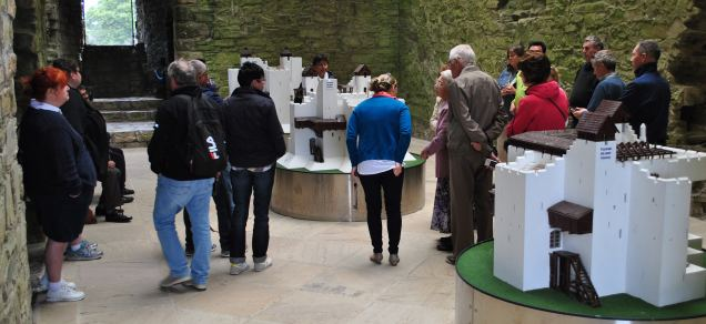Visitors from far and wide in Trim Castle... there were Americans, French, German... South African...