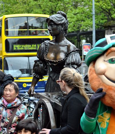 Molly Malone looks on...