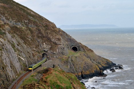 The rail tunnels on the Bray Head... Co Wicklow, Ireland...