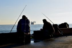 Fisherman's blues? Watching the ferry setting sail for somewhere across the Irish Sea...
