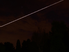 October 14, 2014, ISS passing overhead at 20h08. as seen from Kilcock, North Kildare