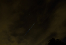 The ISS fading into the earth's shadow... 14 October 2014 at 2010, Kilcock, Co Kildare, Ireland