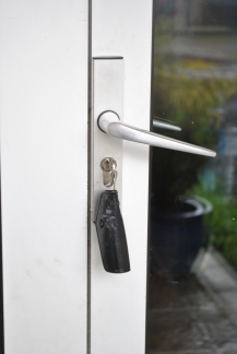 "Freedom! Keys in the front door... arriving home hours later to find ""someone"" had locked and left... key in tact!!"