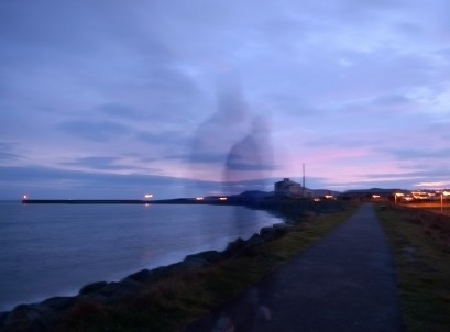 Old factory in Arklow... ghosting sunset!