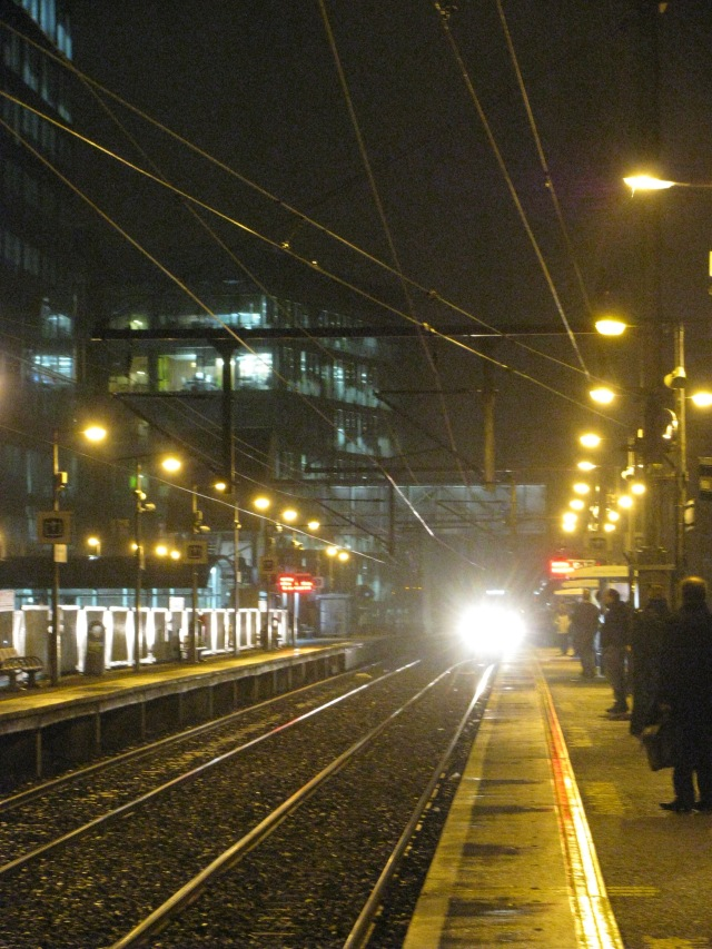 The home train arrives... Grand Canal Dock station, 06 Jan 2012... long ago!!
