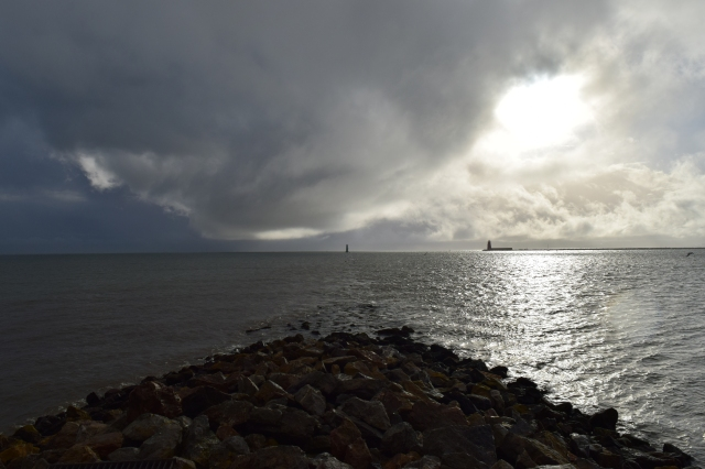 Shadowed sea... stormy Dublin Bay!