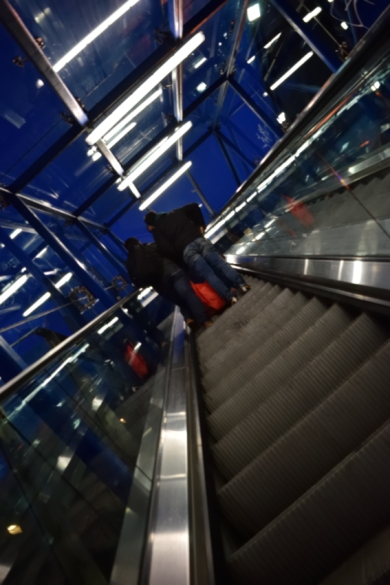 Scale those heights? Up the elevator at Connolly Station...