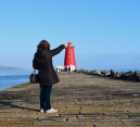 Red symmetry... Poolbeg Lighthouse on a happy Valentines Day...