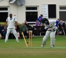 Bowled him!! Out!! Like SA... out of the 2015 World Cup!! Oh well, you win some!